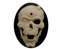 40x30 vampire skull cameo dracula punk gothic goth Day of the Dead jewelry indie cosplay skeleton halloween supply bullet skull 1pc 822x