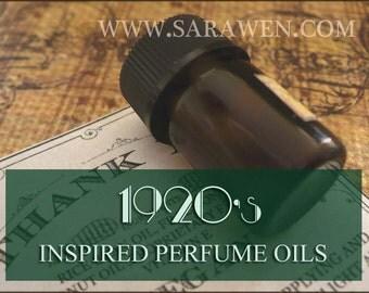1920s inspired Perfume Oil Samples / 2ml perfume / Vegan perfume / The Great Gatsby