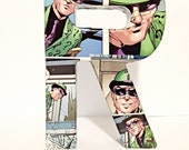 The Riddler Letter R, Batman Villain, Small Comic Book Letter 6 Inch, Pop Art, Ready To Ship