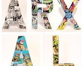 Pick 5--Small Custom Comic Letters 6 Inch, Custom Name, Initials, Monogram, Comic Books