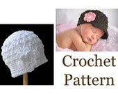 "CROCHET HAT PATTERN, ""The Original Buttercup Beanie"" pattern #101, Baby Crochet Hat Pattern, Crochet Pattern Children, Crochet Pattern Hat"