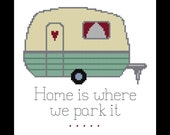 Home Cross Stitch Pattern - PDF - Trailer Cross Stitch Pattern, RV Cross Stitch, Easy Cross Stitch, X Stitch Pattern, Counted Cross Stitch