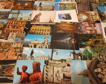 100 Unused France International postcards - vintage - great for collecting, weddings, guest book, postcrossing or crafts. Item No: P63