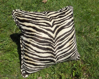Zebra Print Pillow - 18 X 18 - Contains pillow insert