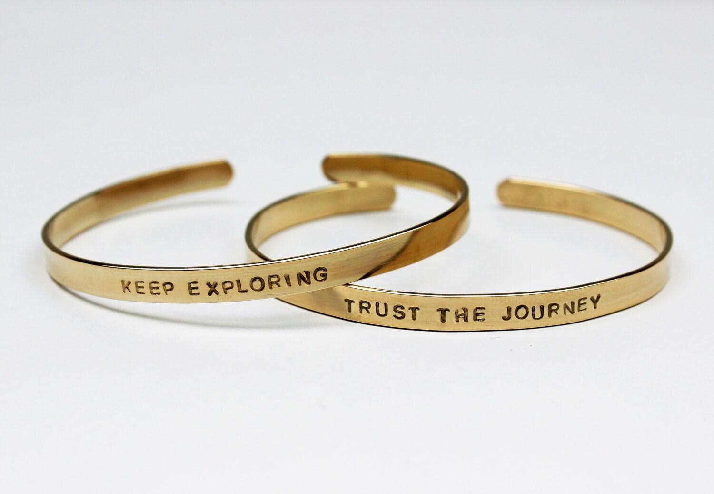 14k gold filled bangle custom text gold bangle bracelet