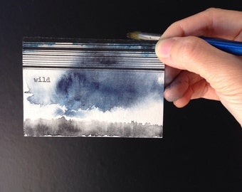Wild and reckless. Watercolour and ink one of a kind typewriter art by dabblelicious