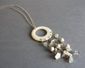 Reserved for Trista ~ White Boho Wedding Necklace