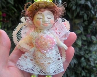 Angel,Handmade Miniature art doll