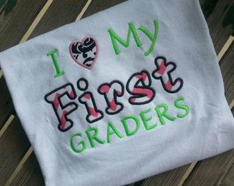I love my First Graders Teacher Shirt