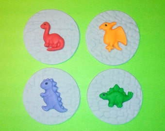 Fondant cupcake toppers Dinosaur toppers