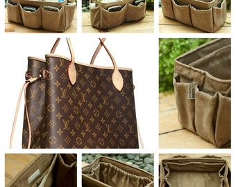 Purse Organizer Insert  For Louis Vuitton Neverfull MM / Handmade / Faux Coffee / Made To Order