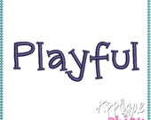 Playful Embroidery Font Instant Download