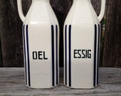 Set of Vintage German Oil and Vinegar Carafe's