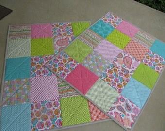 Baby Quilt, Toddler Bedding, Crib Bedding, Patchwork Quilt, Boy, Girl, Gender Neutral, You Pick Your Fabrics,