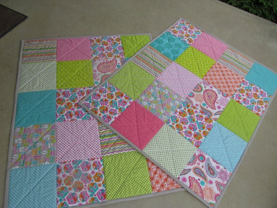 Baby quilt toddler bedding crib bedding patchwork quilt boy girl
