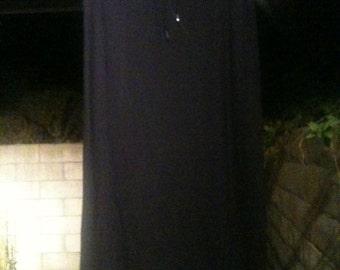 Vittadini small new with tags long skirt rayon black vintage