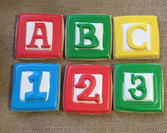 1 dozen ABC blocks baby shower child birthday