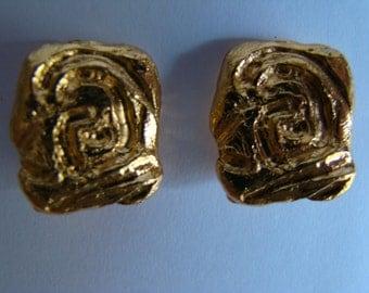 YSL Yves Saint Laurent tiny earrings