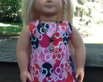 18 Inch Doll Clothes Pink Flowered Tunic and  Leggings