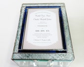 Elegant Stained Glass Wedding Invitation Keepsake Box Engagement Bridal Shower Wedding Reception Card Holder 50th Anniversary Made-to-Order