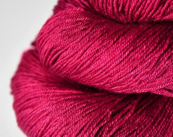 Sunken cocktail cherry - Merino/Silk Fingering Yarn Superwash