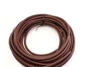 12mm Brown Bolo Braided Leather Cord Yardage - 1 yard, 5 yards, 10 yards, 25 yards, You Choose Length, CB1200BRN
