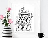 Art print  - Life starts after tea