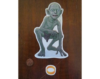 Gollum sticker Lord of the Rings