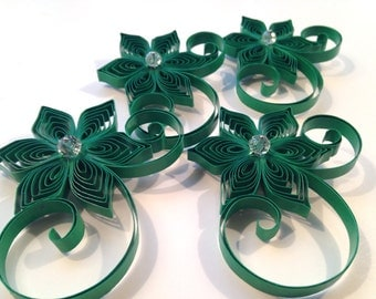 4 Boutonnieres, Groomsman Gift, Boutonnieres for Men, Custom Color Wedding, Emerald, Green, Pick Your Color