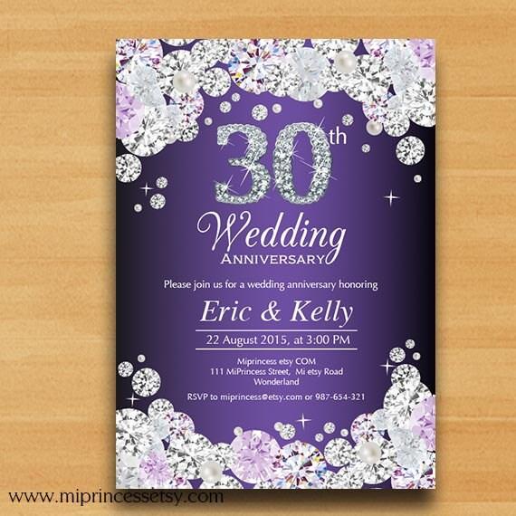 Anniversary Invitation Wedding Anniversary Invitation 10th