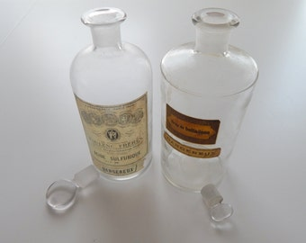 2 French Antique Bottles Dangereux!