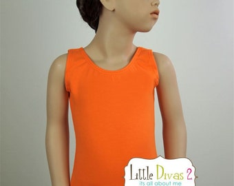 Orange Leotard (Child) Tank Leotard