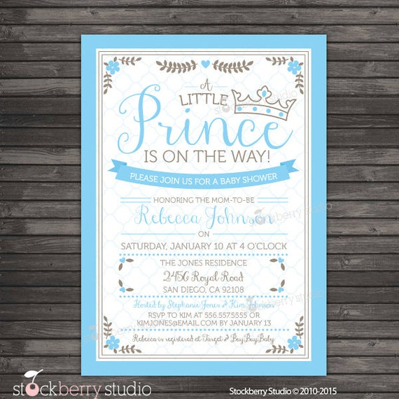 prince baby shower invitation printable  royal prince baby shower, Baby shower