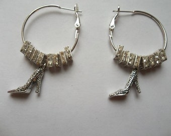 Basketball Wives hoop earrings black girl Afro hair shoe lover square crystals jewelry haute