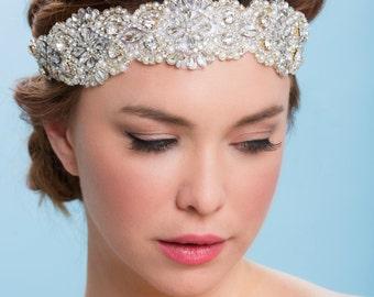Sample Sale!!  Kate Bead and crystal Headband, Belt, Beaded Sash