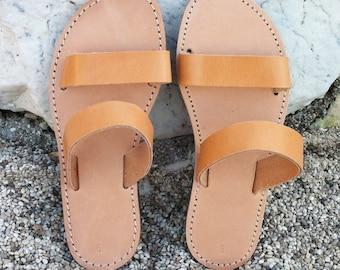 Leather sandals , greek leather sandals ,handmade shoes , strap sandal