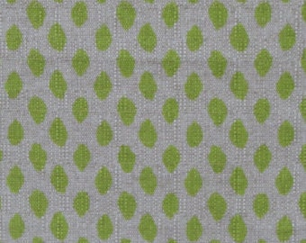 Pillow cover ikat honeydew green on natural linen with jute piping