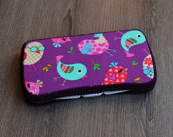 Boutique Baby Wipes Case - Birdies - Wipes Clutch - Wipe Holder- Travel Wipes - Ready to Ship.