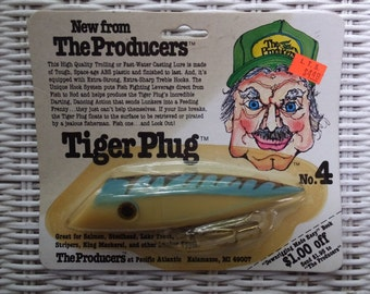 Vintage The Producers Tiger Plug No. 4 Salmon Lake Trout Rainbows Fishing Lure