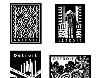 Detroit Notecard Set