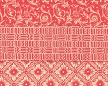 Traditional and Gothic Designs in Red 12x12 Art Papers for Bookbinding, Decor and Collage