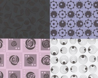 Mix & Match 12x12 Art Papers in Black and Bold Designs for Card Making, Collage, Scrapbooking and More