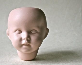 Vintage Porcelain Bisque Doll Head for Altered Art Doll Making and Doll Repair