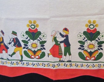 "Curtain Panel by Hill - Scandinavian Dancers and Musicians - 34"" x  22"""
