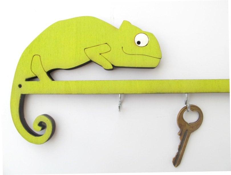 chameleon schl ssel haken eindeutige h lzernen. Black Bedroom Furniture Sets. Home Design Ideas