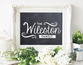 Last Name Sign, Family Name Art, Custom Family Sign