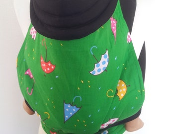 MEI TAI Baby Carrier / Sling / Reversible / Umbrellas in straight cut model/ Cotton / Handmade / Made in UK