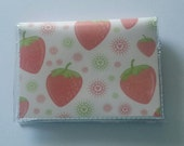 Cash/Card Wallet - Strawberries/Walla Wallat, fruit, picnic, food, berries, snacks, summer, card/cash case, vinyl wallet, snap wallet