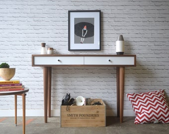 Bloom Console Table - Solid Walnut