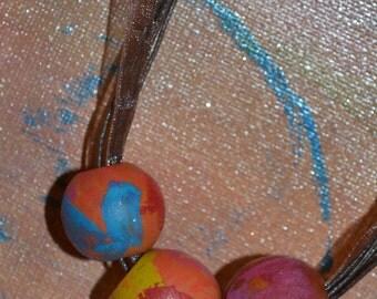 Wooden Bead Necklace shabby chic boho hippie festival